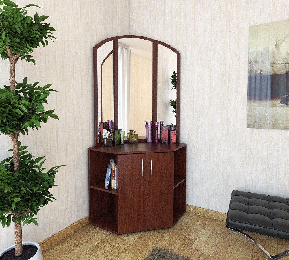 Комод с зеркалом в спальню, преимущества и недостатки мебели.